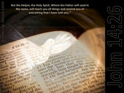 John 14:26 The Holy Spirit Whom The Father Will Send (brown)